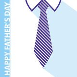 Fathers day card. Happy fathers day card background tie and white shirt Royalty Free Stock Photography