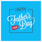 Fathers day card happy family. 10 eps Stock Images