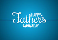 Fathers day card happy family. 10 eps Royalty Free Stock Images
