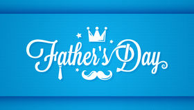 Fathers day card happy family. 10 eps Royalty Free Stock Photos