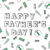 Fathers day card. Happy father's day. Royalty Free Stock Photo