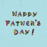 Fathers day card Royalty Free Stock Photography