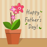 Fathers Day Card illustration royalty free stock image