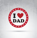 Fathers day card Royalty Free Stock Images