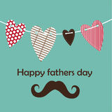 Fathers day card, retro style. Stock Photography