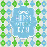 Fathers day card in retro style. Royalty Free Stock Photos