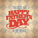 Fathers day card. royalty free illustration