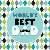 Fathers day card text frame diamond pattern Royalty Free Stock Image