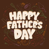 Fathers day card with tools. Stock Images