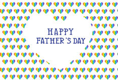 Fathers day card, vector illustration Stock Image