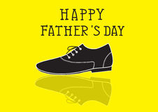 Fathers day card, vector illustration Royalty Free Stock Image