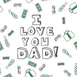Fathers day card Stock Images