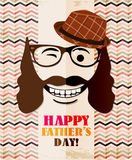 Fathers day card in vintage style. Retro poster. Hipster. Daddy. Male. Royalty Free Stock Photography