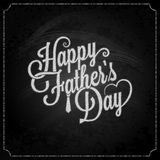 Fathers day chalk lettering background Royalty Free Stock Image