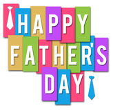 Fathers Day Colorful Stripes Royalty Free Stock Photos
