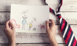 Fathers day composition Stock Photography