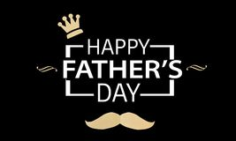 Fathers day composition on black. Fathers day composition on wooden background. Fathers day composition on grid. Fathers day composition on wooden background stock illustration