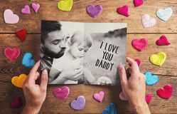 Fathers day composition Royalty Free Stock Photo