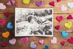Fathers day composition Stock Images