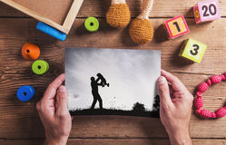 Fathers day composition Stock Photos