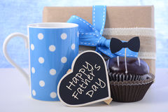 Fathers Day cupcake gift. Royalty Free Stock Photo
