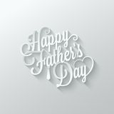 Fathers day cut paper lettering background Royalty Free Stock Images