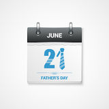 Fathers day date design background Royalty Free Stock Images