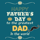 Fathers Day Design the greatest dad wish Stock Photography
