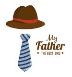 fathers day design royalty free illustration