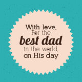 Fathers day design Stock Photography