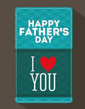 Fathers day design Stock Photos