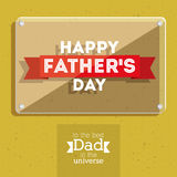 Fathers day design Stock Photo