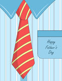 Fathers day design with tie and shirt Royalty Free Stock Image
