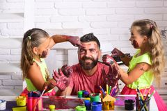 Fathers day and family concept royalty free stock photos