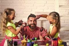 Fathers day and family concept stock photography