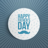 Fathers Day festive blue and white Background. Vector Illustration Stock Images