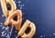 Fathers Day gold Dad balloons. Royalty Free Stock Photos