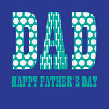 Fathers day with golfball pattern Royalty Free Stock Images