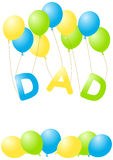 Fathers Day Greeting Card Royalty Free Stock Photography