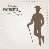 Fathers day greeting card. Stock Images
