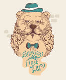 Fathers day greeting card with bear Royalty Free Stock Images