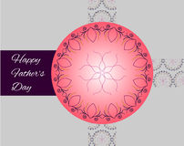 Fathers day greeting card. Happy fathers day family holiday greeting card Stock Images