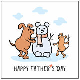 Fathers day greeting card Stock Images