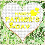 Fathers day greeting card Royalty Free Stock Photos