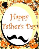 Fathers day greeting card Royalty Free Stock Photo
