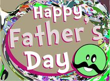 Fathers day greeting card Stock Photos