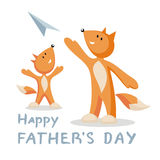 Fathers day greeting vector illustration