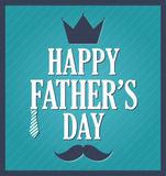 Fathers Day greeting template. Blue background, dark blue frame Royalty Free Stock Image