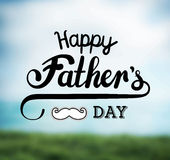Fathers day greeting vector Stock Images
