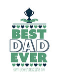 Fathers day greeting vector Stock Image